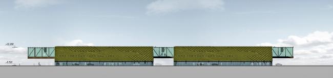 Бизнес-центр и гостиница у аэропорта «Пулково». Восточный фасад парковки © А.Лен