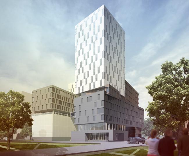 Instruction and administrative building №2 in Mytischi. Version 1 © Vissarionov Studio