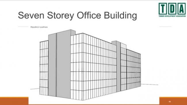 7-этажное офисное здание © TDA
