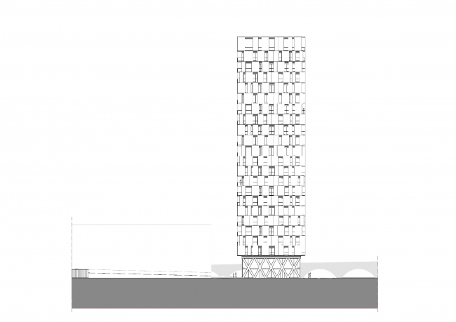 Жилой комплекс Park Tower © Studio Farris Architects