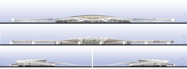 Международный аэропорт «Симферополь». Фасады © Архитектурное бюро Асадова