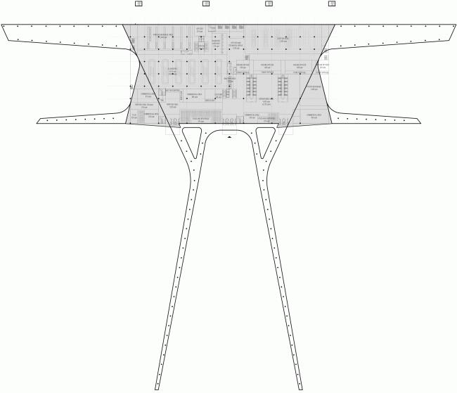 Simferopol International Airport. Plan © Asadov Architectural Bureau