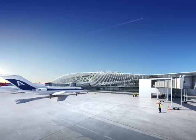 Международный аэропорт «Симферополь» © Архитектурное бюро Асадова