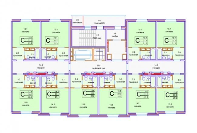 Панельная серия жилых домов. Квартиры-студии © «СУ-155»