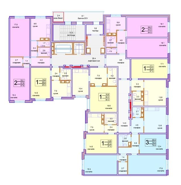 Панельная серия жилых домов. угловая секция © «СУ-155»