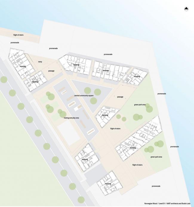 Жилой комплекс Waterfront © AART architects