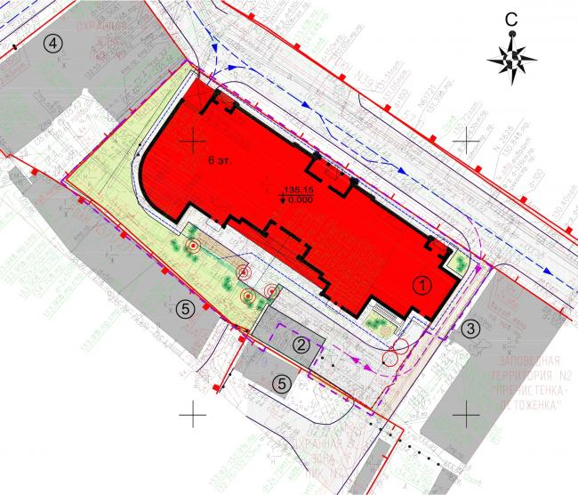 """Residence in Vsevolozhsky"". Master plan © Mezonproject"