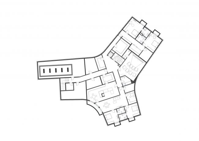 Частный дом в Грин Белте. План подвального этажа © PANACOM