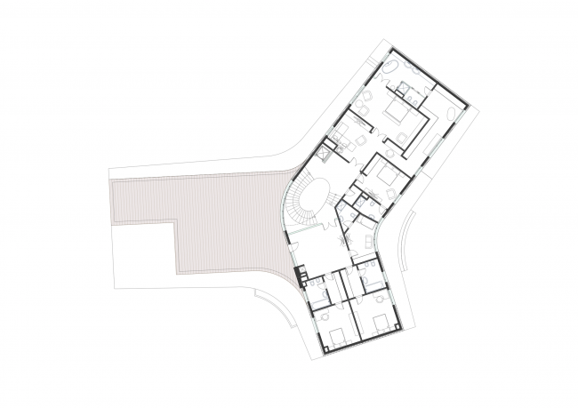 A private house in London's Green Belt. Plan of the second floor © PANACOM