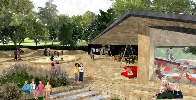 Концептуальный проект «Сад Будущего». Детская площадка © Ai-architects