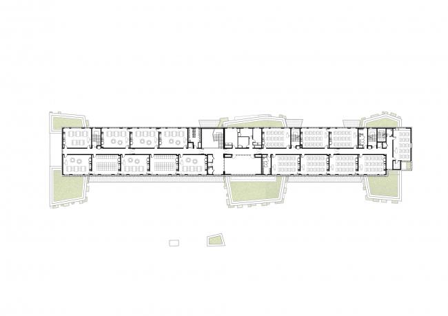 Начальная школа «Оливье де Серр» © Jean-François Schmit Architectes