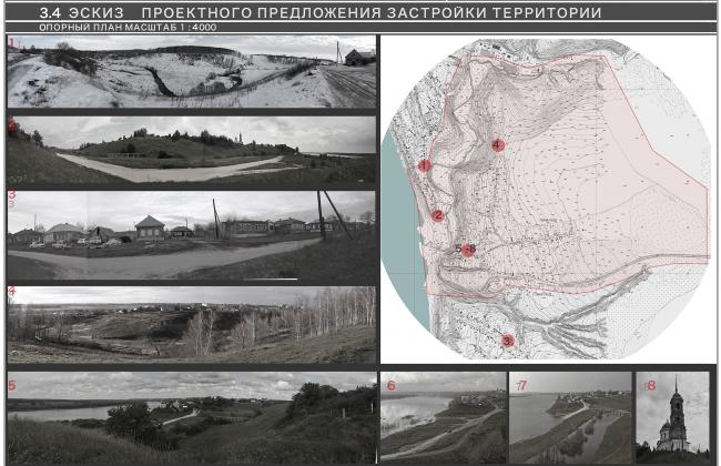 Елена Семягина. Магистерская диссертация «Архитектурно-ландшафтная организация археолого-этнографических парков». Опорный план