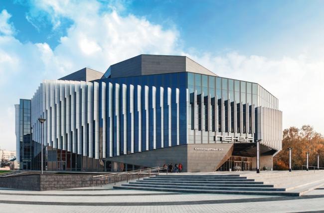 Киноконцертный зал на 1600 мест в Пензе. Авторы: Марат Каскеев, Игорь Ермоленко. Изображение предоставлено оргкомитетом фестиваля