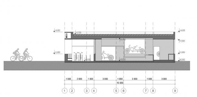 Велопавильон Electra © Grin Architect
