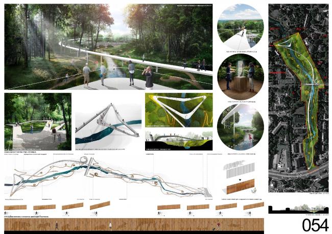 Концепция развития пространства ручья Парковый. Архитектурная группа Citizenstudio (Москва)