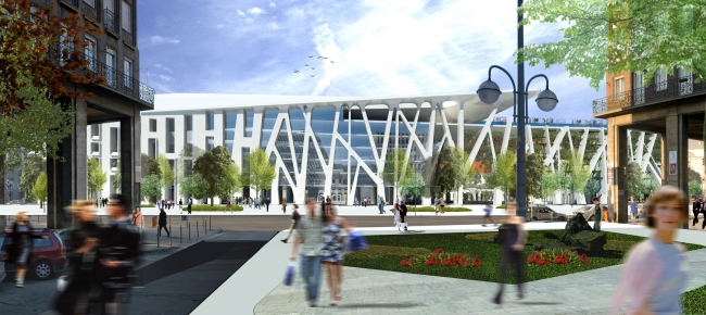 Project for New National Gallery and Ludwig Museum in Budapest © (designed by) Erick van Egeraat