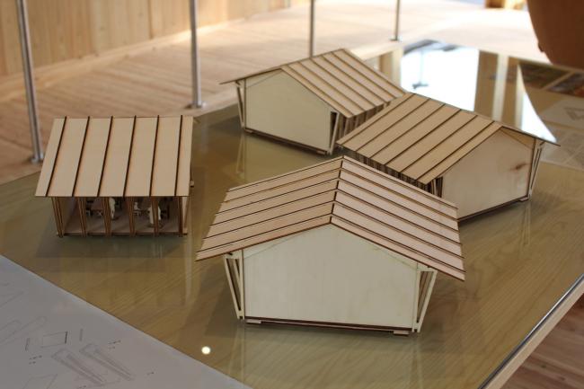 Павильоны Slow food («Медленной еды»), Herzog & de Meuron: согласно авторскому плану, павильоны – модульные, и могут быть разделены на меньшие части, а также могут быть использованы после выставки. Фотография © Юлия Тарабарина