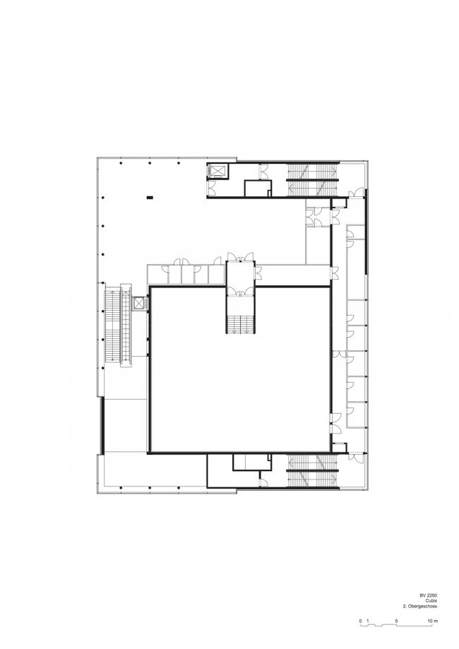 Кинотеатр Cubix. План верхнего этажа © nps tchoban voss