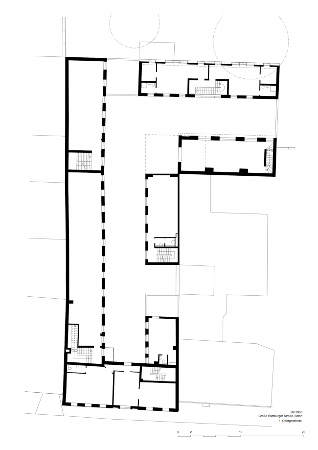 Комплекс Hamburger Hof. План 2 этажа © nps tchoban voss