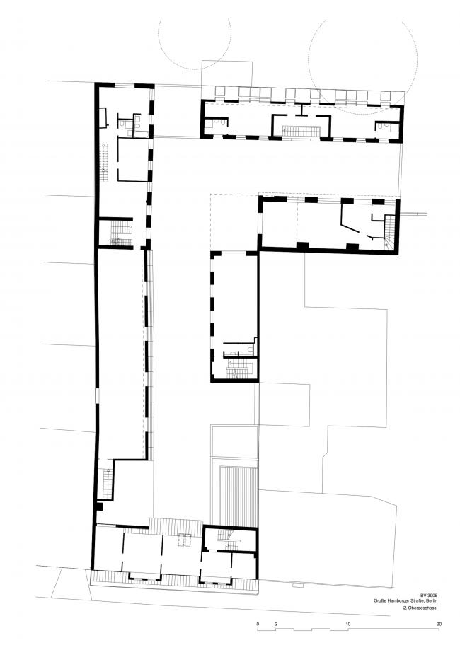 Комплекс Hamburger Hof. План 3 этажа © nps tchoban voss