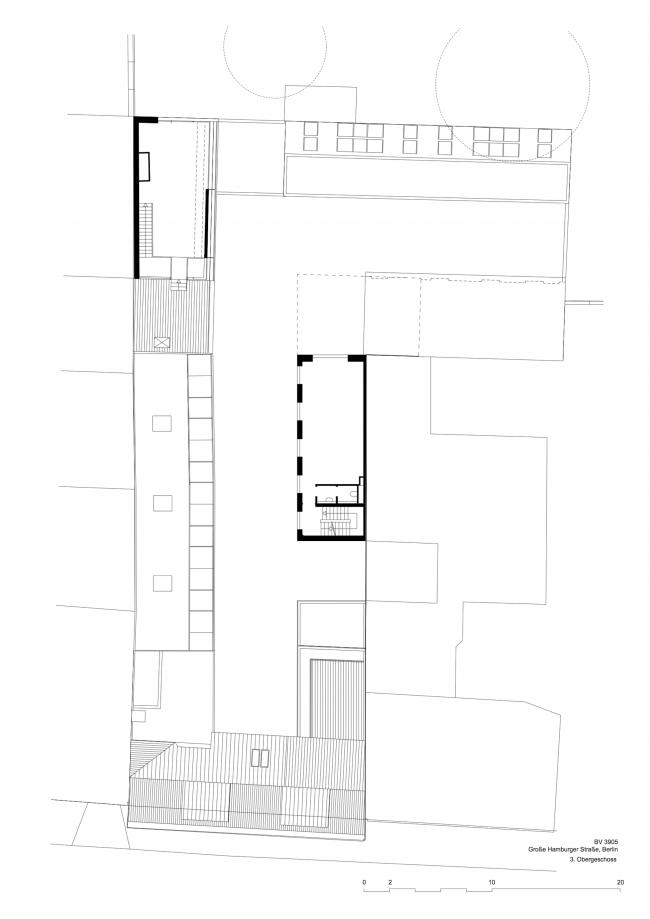 Комплекс Hamburger Hof. План 4 этажа © nps tchoban voss