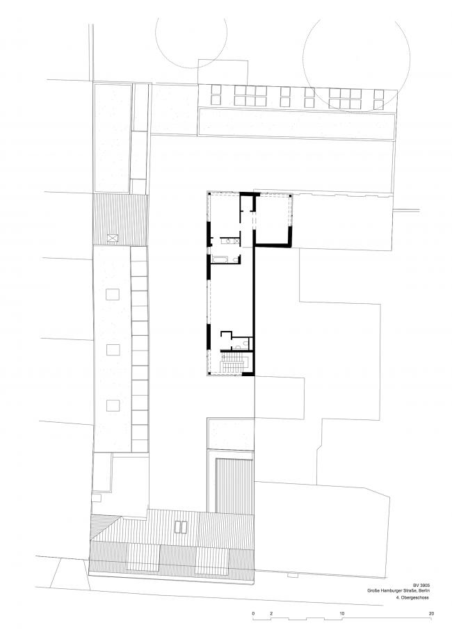 Комплекс Hamburger Hof. План 5 этажа © nps tchoban voss