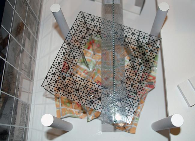 Фрагмент макета. Решение центральной части вестибюля.