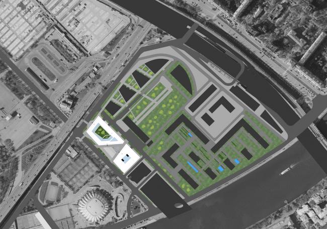 Штаб-квартира Олимпийского Комитета России. Генеральный план © TПО «Резерв»