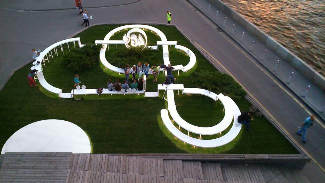 Общественная зона компании «Мегафон» на «Красном Октябре» © Архитектурное бюро «Новое». Фотография: Ольга Лебедева