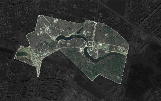 Парк «Кузьминки». Граница рассмотрения и граница проектирования © Alphabet city