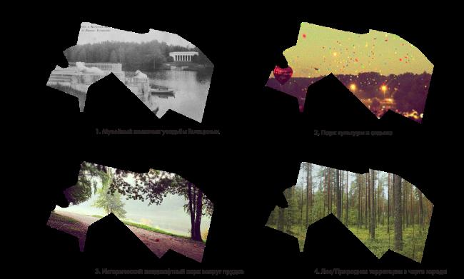 """Парк «Кузьминки». Концепция """"4 парка в одном!"""" © Alphabet city"""