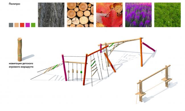 Парк «Кузьминки». Цветовое кодирование : объекты для детей © Alphabet city