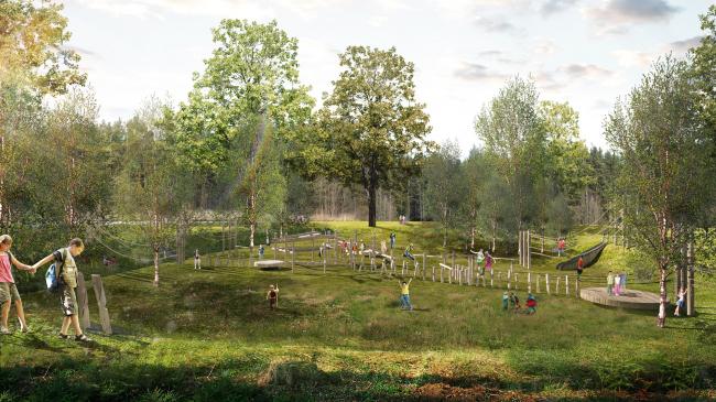 Парк «Кузьминки». Детский игровой маршрут © Alphabet city