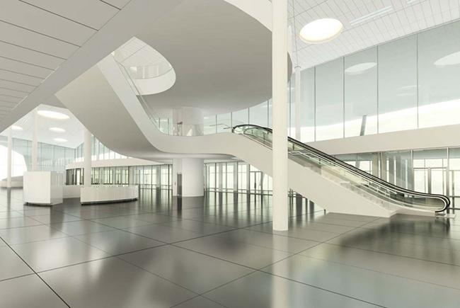 Визуализация интерьера нового терминала Международного аэропорта Курумоч © Nefa Architects