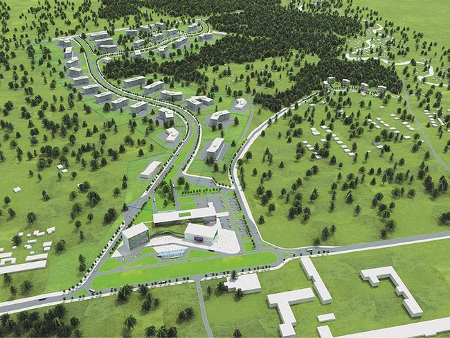 Общий вид застройки участка с запада, со стороны административно-делового центра