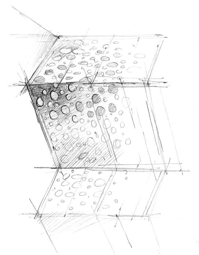 Эскизирование художественной перфорации панели. Иллюстрация предоставлена компанией «АСП-Технолоджи»