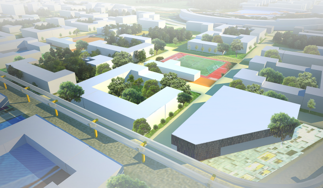 Architectural and engineering proposal on the housing project in Ilinskoe © Vissarionov Studio