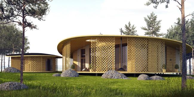 Архитектурная концепция технопарка «Ишим». Дом «Фьордленд» © АМ Тотана Кузембаева