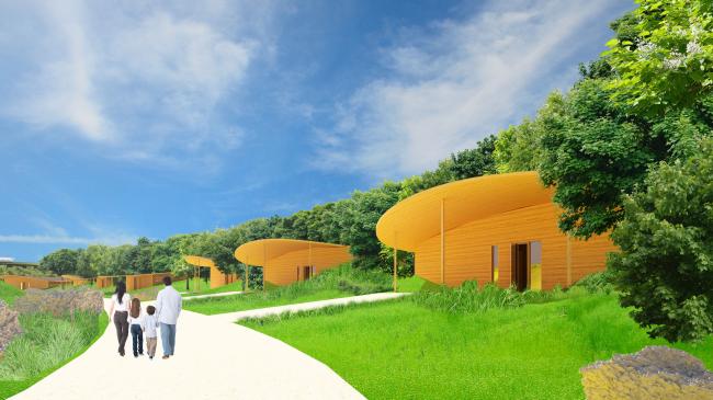 Архитектурная концепция технопарка «Ишим»: виллы © АМ Тотана Кузембаева