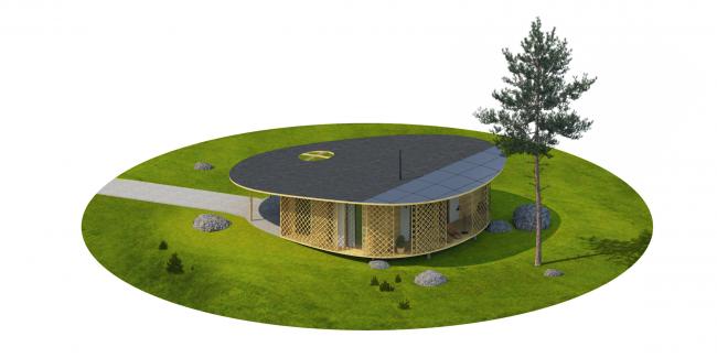 "Architectural concept of ""Ishim"" techno-park. ""UENO"" House © Totan Kuzembaev Studio"