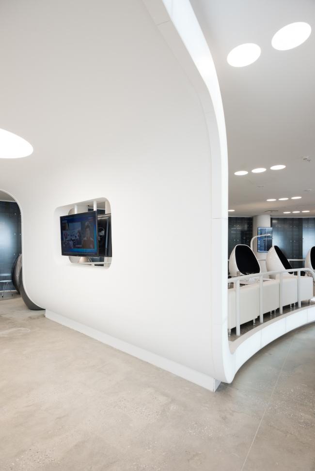 Интерьер нового терминала международного аэропорта Курумоч в Самаре. Зона VIP–lounges © Архитектурное бюро Nefa Architects. Фотограф Илья Иванов