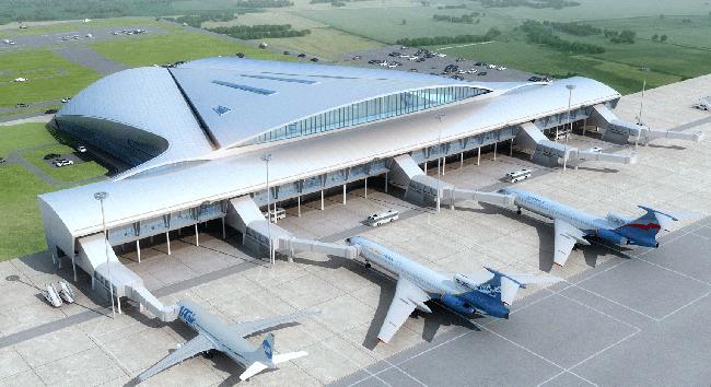Международный аэропорт Курумоч, архитектурная концепция © Hintan Associates