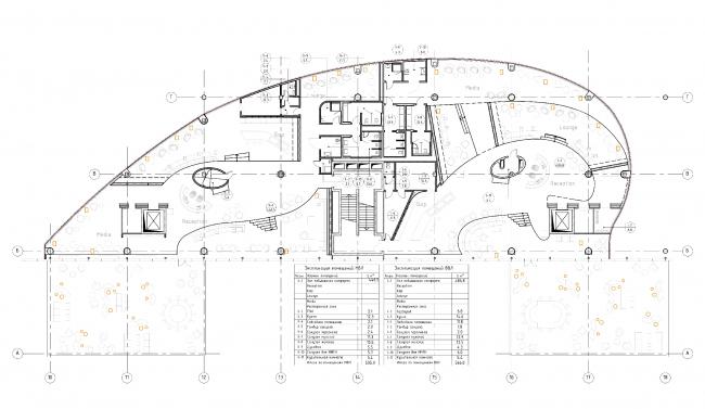 Новый терминал международного аэропорта Курумоч в Самаре. План этажа © Архитектурное бюро Nefa Architects