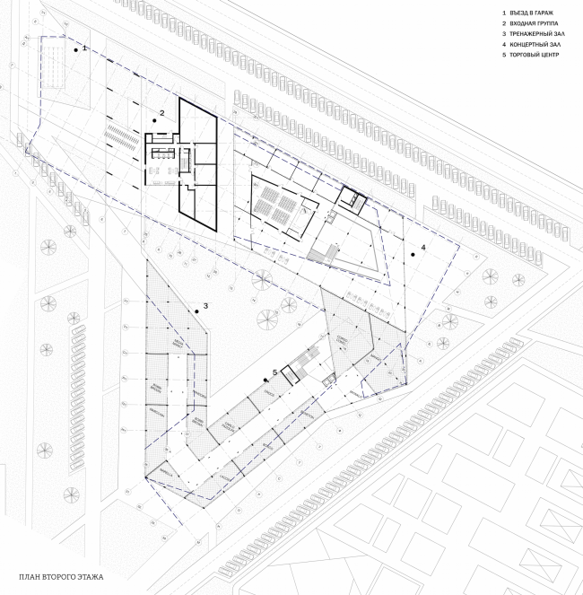 A student housing project. Stylobate. Author: Polina Korochkova, fourth year student of Moscow Institute of Architecture