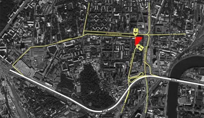 Многофункциональный комплекс на Тульской. Схема транспортной доступности © ООО «Альянс-Бюро»