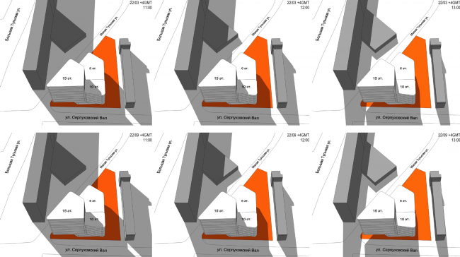 Многофункциональный комплекс на Тульской. Схема освещения © ООО «Альянс-Бюро»