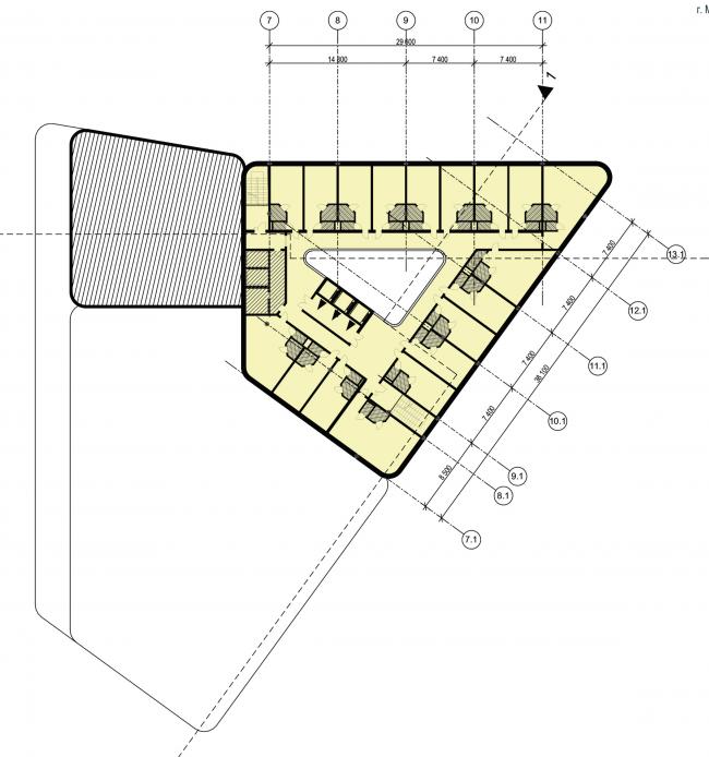 Многофункциональный комплекс на Тульской. План © ООО «Альянс-Бюро»