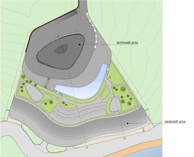Комплекс апартаментов в Партените. Схема генерального плана © АБ SL*project