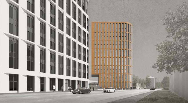 """Multifunctional residential development in Khamovniki (Quarter 5 of """"Sadovye Kvartaly"""" complex) © Sergey Skuratov Architects"""