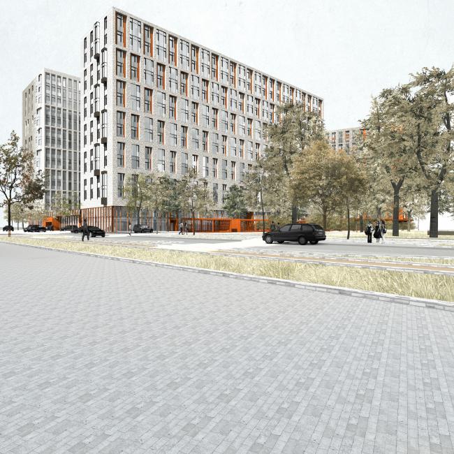 Жилой комплекс «Полуостров Зил» © Сергей Скуратов ARCHITECTS